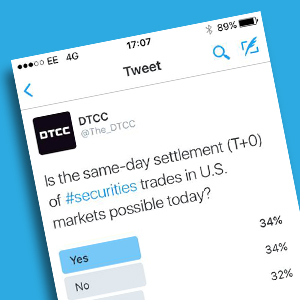 DTCC Polls Industry on Settling Trades T0