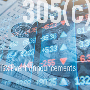 DTCC Introduces Pilot of Tax Event Announcements