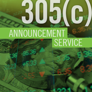 Outreach to Tax Clients Results in Better use of 305c Announcement Service