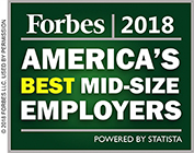 Forbes 2018, America's Best Mid-Size Employers