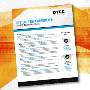 DTCC's Leibrock Discusses Q1 2017 Systemic Risk Barometer Survey Results