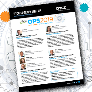 DTCC Executives to Speak at SIFMA Ops 2019